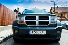 Dodge Nitro front  view on a bright sunny day. stock photography
