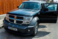 Dodge Nitro side view on a bright sunny day. royalty free stock photos
