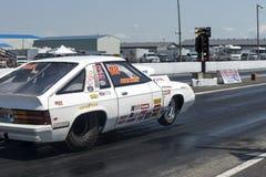 Dodge omni drag car making a start Royalty Free Stock Photos