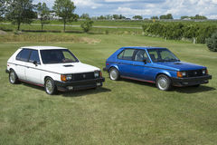 Dodge omni glh. Pair of dodge omni glh in display during the granby international 28-30 july 2017 stock photo