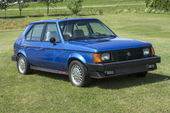 Dodge omni glh. Picture of blue dodge omni glh in display during the granby international 28-30 july 2017 royalty free stock photography