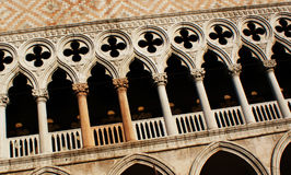 Dodge palace. Architecture details of the Dodge palace in Venice, Italy Stock Photos