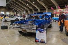 Dodge-Pfeil Hemi 1969 auf Anzeige Lizenzfreies Stockbild