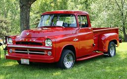 Dodge pickup. Picture of the 1957 dodge pickup d-100 at vacm event at parc marie-victorin,longueuil stock photo
