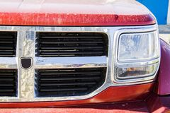 Dodge picup radiator grill Royalty Free Stock Images