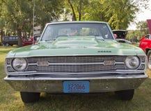 1969 Dodge-Pijltje vooraanzicht Stock Afbeelding