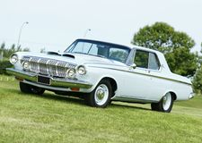 Dodge polara. Picture of the baby blue dodge polara Royalty Free Stock Photos