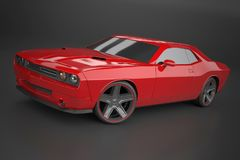 Dodge pretendent musclecar Obrazy Stock