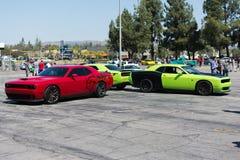 Dodge pretendenta SRT samochody na pokazie Zdjęcie Royalty Free