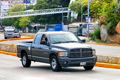 Dodge Ram 1500. Acapulco, Mexico - May 28, 2017: Pickup truck Dodge Ram 1500 in the city street Stock Photography