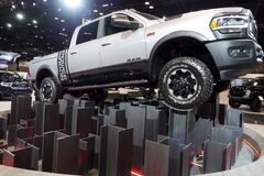 Dodge RAM 1500 2019 at the annual International auto-show, February 9, 2019 in Chicago, IL