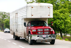 Dodge Ram. CAMPECHE, MEXICO - JUNE 2, 2017: Cargo truck Dodge Ram at the interurban road royalty free stock photos
