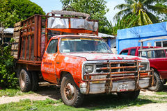 Dodge Ram. CAMPECHE, MEXICO - MAY 21, 2017: Pickup truck Dodge Ram in the city street stock photography