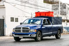 Dodge Ram. Campeche, Mexico - May 20, 2017: Pickup truck Dodge Ram in the city street Stock Photography