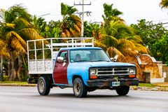 Dodge Ram. CANCUN, MEXICO - JUNE 3, 2017: Pickup truck Dodge Ram at the interurban road royalty free stock photography