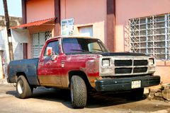 Dodge Ram 250. Emiliano Zapata, Mexico - May 23, 2017: Aged pickup truck Dodge Ram 250 in the city street Stock Images