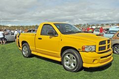 Dodge Ram 1500 Hemi. This Dodge Ram pickup truck is powered by a hemi V-8 engine although not the 426 C.I./425 HP engine of legend. The Bumble Bee stripe across Stock Images
