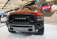 Dodge RAM. Http://www.salonautomontreal.com/en/ The 2016 Montreal International Auto Show: From Dream to Reality stock image