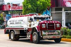 Dodge Ram. OAXACA, MEXICO - MAY 25, 2017: Cistern truck Dodge Ram in the city street stock photography