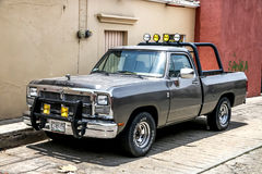 Dodge Ram. OAXACA, MEXICO - MAY 25, 2017: Pickup truck Dodge Ram in the city street stock images
