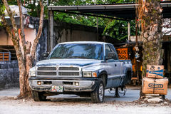 Dodge Ram 2500. PALENQUE, MEXICO - MAY 21, 2017: Pickup truck Dodge Ram 2500 in the city street royalty free stock photography