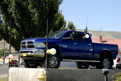 DODGE RAM PICKUPS. Lewiston /Idaho /USA- 20 June 2016_Dodge ram pickups in various model at car dealer royalty free stock photo