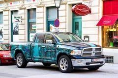 Dodge Ram 1500. SALZBURG, AUSTRIA - JULY 28, 2014: American pickup truck Dodge Ram 1500 in the town street Stock Photography