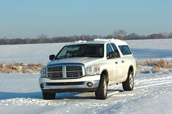 Dodge ram in snow Stock Images