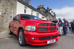 Dodge Ram SRT pickup truck. GRANTOWN ON SPEY, SCOTLAND - SEPTEMBER 6: Dodge Ram SRT pickup truck on September 6, 2015 in Grantown On Spey, Scotland royalty free stock images