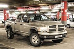 Dodge Ram 1500. UFA, RUSSIA - FEBRUARY 7, 2016: Motor car Dodge Ram 1500 in the underground parking Royalty Free Stock Photo