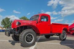 Dodge RAM władzy furgon przy Woodward sen rejsem Zdjęcia Stock