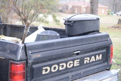 Dodge Ram Work Truck. The Ram pickup formerly the Dodge Ram pickup is a full-size pickup truck manufactured by FCA US LLC formerly Chrysler Group LLC and stock photos