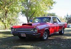 Dodge rojo restaurado obra clásica Foto de archivo