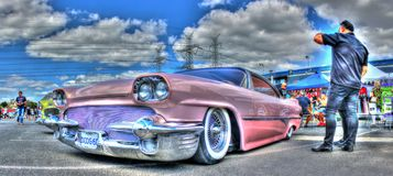 1960 Dodge rosa Fotografie Stock Libere da Diritti