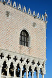 Dodge`s Palace detail in Venice, Italy Royalty Free Stock Images