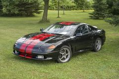 Dodge stealth. Front side view of dodge stealth during convention chrysler at st liboire august 4-5 2018 royalty free stock photo
