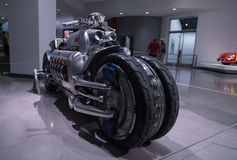2003 Dodge Tomahawk motorcycle. Los Angeles, CA, USA — April 16, 2016: This 2003 Dodge Tomahawk motorcycle was one of only 9 built and is named after the Stock Photo