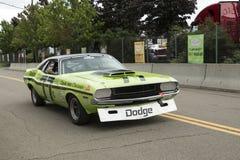Dodge-uitdagersraceauto Royalty-vrije Stock Foto's