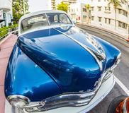 Dodge Vintage car parked at Ocean Royalty Free Stock Photography