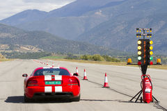 Dodge Viper SRT. LA SEU D'URGELL, SPAIN - OCTOBER 7: A Dodge Viper SRT take part in Road and Track racing weekend organized by American Car Club, on October 7 Stock Image