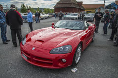 2004 Dodge Viper SRT-10 RSI SR 550 Convertible. Every Wednesday during the months of May to August there is a veteran car meeting with American cars at the fish Royalty Free Stock Photo
