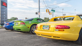 Dodge Vipers, Woodward Dream Cruise, MI Stock Images
