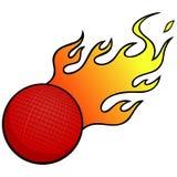 Dodgeball με τις φλόγες διανυσματική απεικόνιση