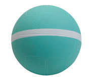 Dodgeball dans la couleur bleue photo stock