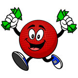 Dodgeball Mascot with Money Royalty Free Stock Photography