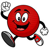 Dodgeball Mascot Running Royalty Free Stock Image