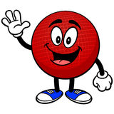 Dodgeball Mascot Waving Royalty Free Stock Image