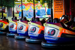 Dodgem Cars. Parked at the fairground Royalty Free Stock Photography
