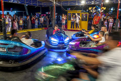 Dodgem cars in Antalya in Turkey. Royalty Free Stock Image