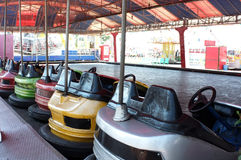 Dodgem cars parked in funfair Royalty Free Stock Photos